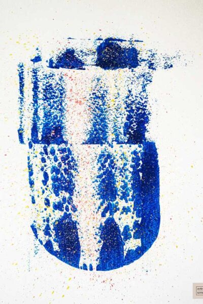 atelier KONG artist abstract artworks affordable prints Los Angeles artist Healing Blues Five