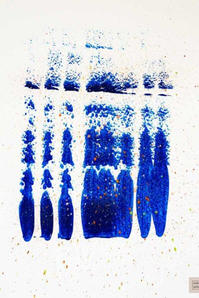 atelier KONG artist abstract artworks affordable prints Los Angeles artist Healing Blues Four