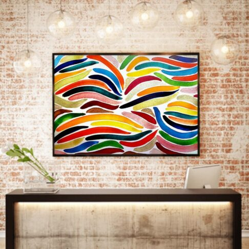 atelier KONG artist abstract artworks affordable prints Los Angeles artist watercolor wall decor interior design