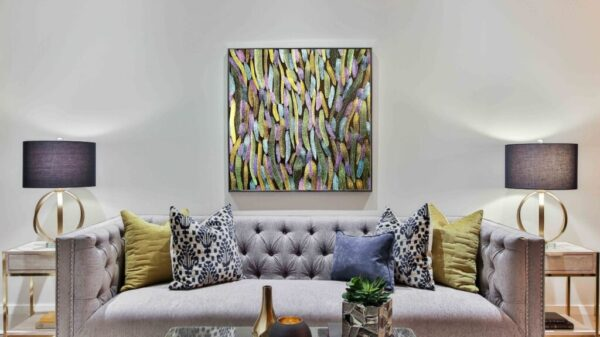 Atelier Kong Abstract Artworks Art Bold Contemporary prints Colors Metallic Purple Tulips