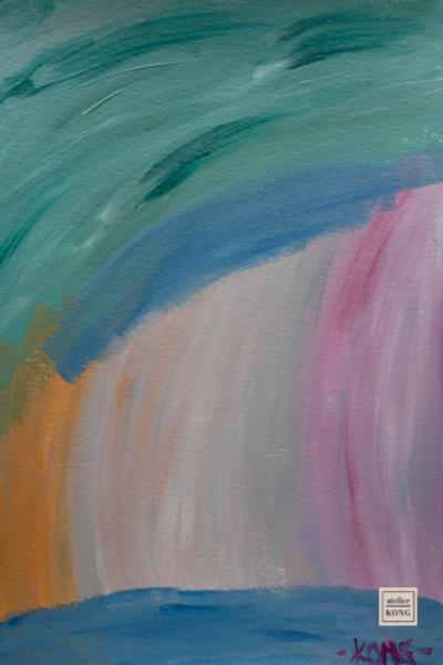 atelier-KONG-abstract-artist-affordable-art-prints-Green-Ochre-Pink