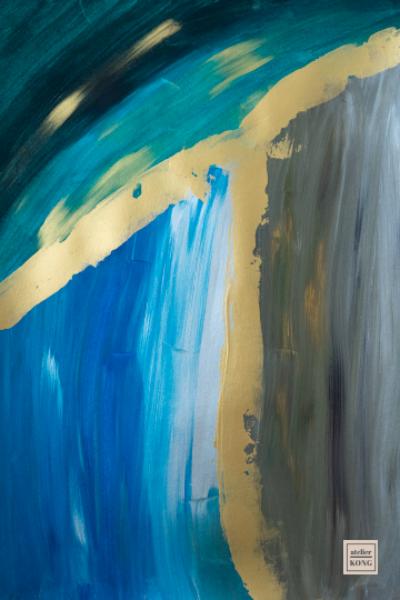 atelier-KONG-abstract-artist-affordable-art-prints-gold-Blue-Green-White-Kintsugi