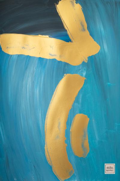 atelier-KONG-abstract-artist-affordable-art-prints-artworks-Blues-Kintsugi