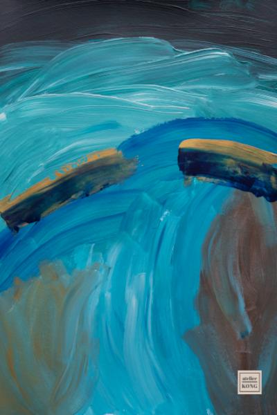 atelier-KONG-abstract-artist-affordable-art-prints-blue-gold-kintsugi