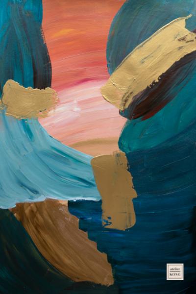 atelier-KONG-abstract-artist-affordable-art-prints-artworks-gold-Orange-Blue-Brown-kintsugi