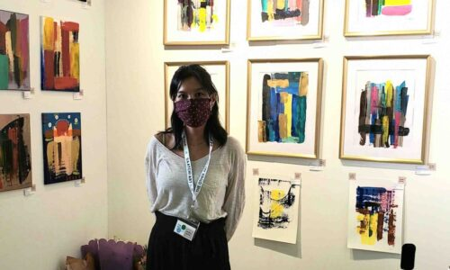 artist KONG at The Other Art Fair LA by Saatchi Art